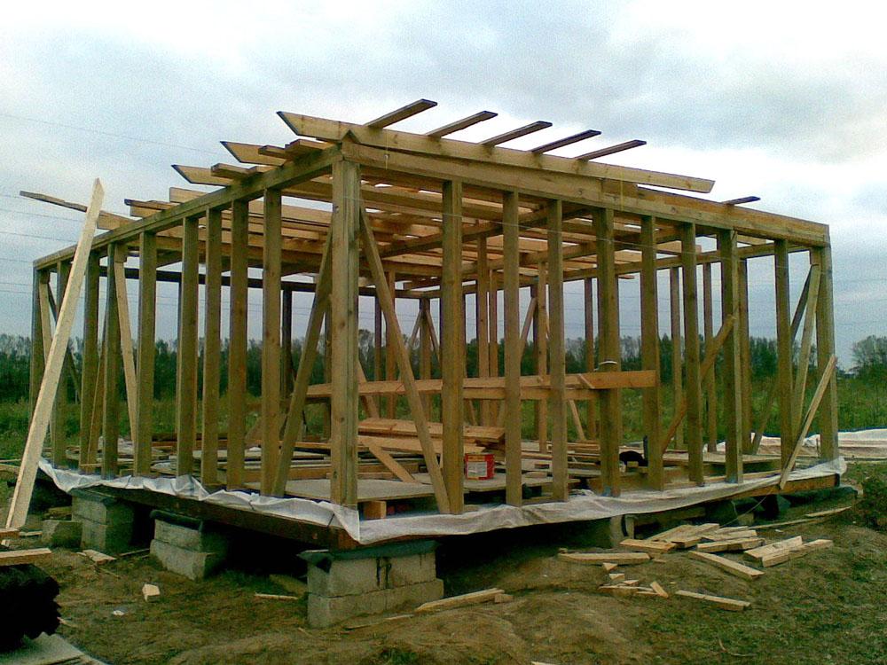 Строительство простых домов своими руками